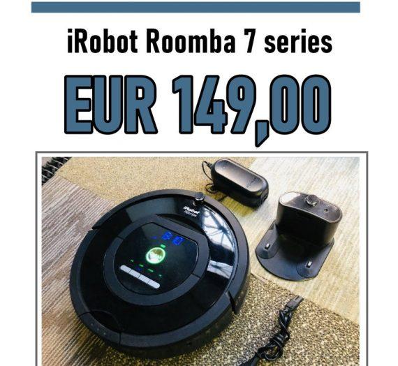 Akcija!!! Piedāvājam iegādāties iRobot Roomba 770 sērijas par 149,00 Euro. Piegāde Bezmaksas pa visu Latviju.  Sīkāks info www.robots.lv vai zvanot +371 20011101